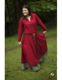 Basic Dress - Dark Red/Brown