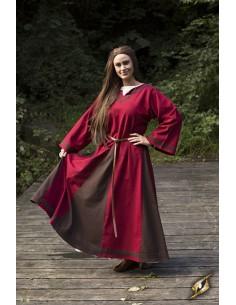 Dress Astrid - Red/Brown