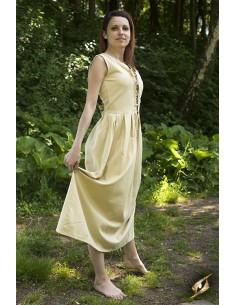 Peasant Dress - Desert Beige