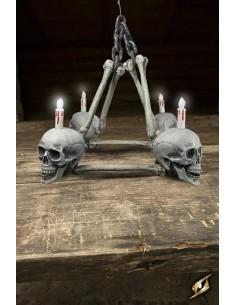 Chandelier 4 skulls
