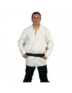Camisa medieval cuello Cotton