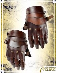 Articulated Gauntlets - Brown