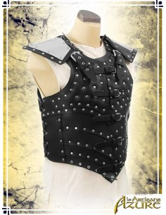 War Leather Vest with Pauldrons