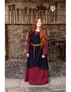 Wrap Dress Myrana - Wool Blue