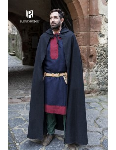 Hooded Cloak Hibernus - Wool Black