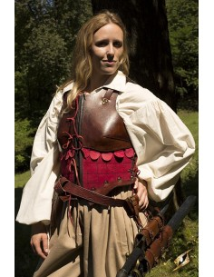 Female Leather Armour Brown...