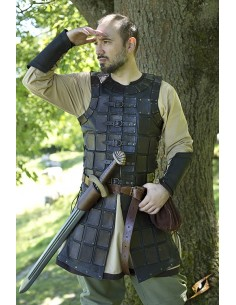 Leather Brigandine - Black...