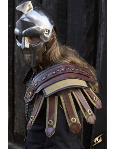 Roman Shoulder Armour - Brown