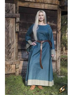 Dress Freya - Blue/Dryad Green