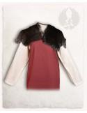 Cuello de piel de conejo arenisca gigante flamenca