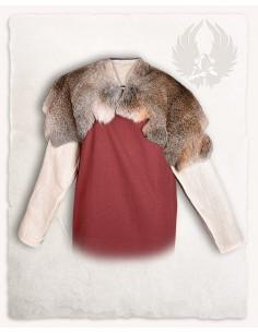 Cuello de piel de conejo:...