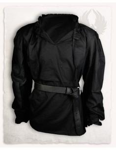 Camisa Bastian algodón negro