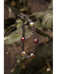 Bracelet with beads - Brown