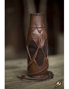 Laced Bottle Holder - Brown